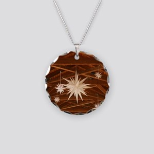 Morning Star Necklace Circle Charm