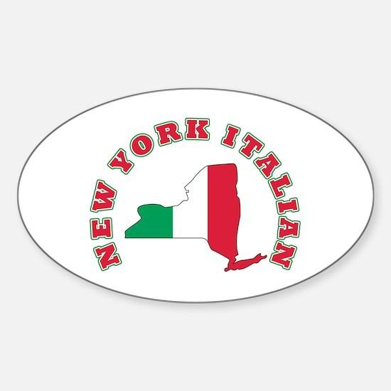 New York Italian Oval Decal