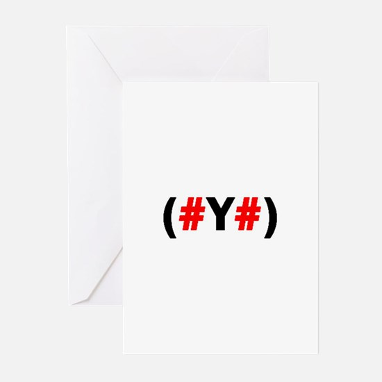 (#Y#)-Get to the bottom of it. Greeting Cards (Pac