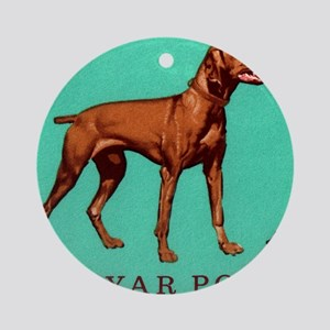 1967 Hungary Vizsla Dog Postage Sta Round Ornament