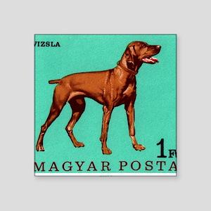 "1967 Hungary Vizsla Dog Pos Square Sticker 3"" x 3"""