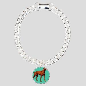 1967 Hungary Vizsla Dog  Charm Bracelet, One Charm