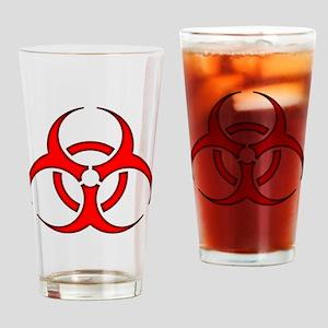 biohazard enhanced 3600 no background Drinking Gla