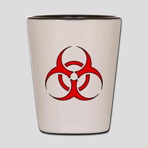 biohazard enhanced 3600 no background Shot Glass