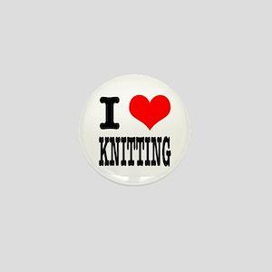 I Heart (Love) Knitting Mini Button