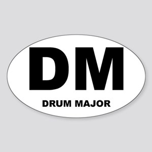 Drum Major Oval Sticker