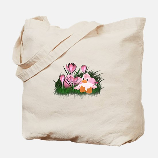LITTLE PINK DUCK Tote Bag