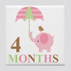 4 months Tile Coaster