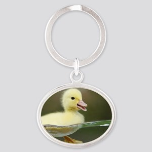 Duckling Oval Keychain