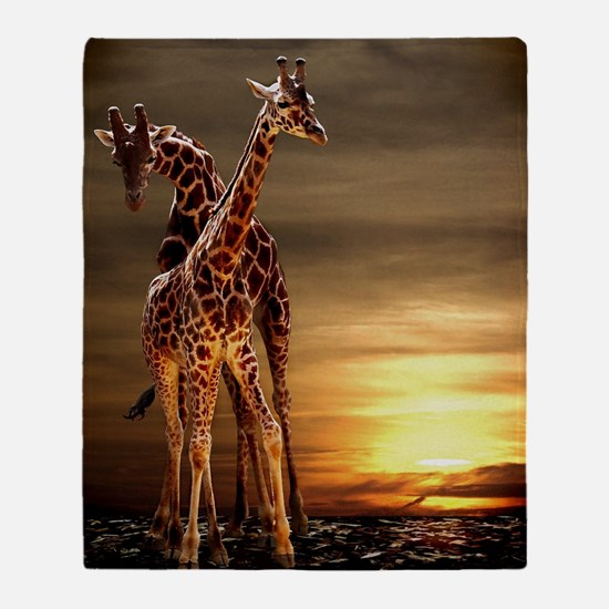 Giraffes Throw Blanket