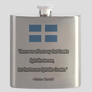 WW2 Churchill quote Flask