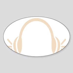 Headphones for EDM Sticker (Oval)