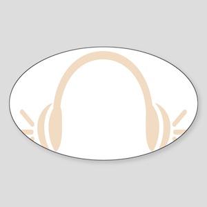 Headphones for EDM Sticker (Oval)