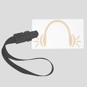 Headphones for EDM Large Luggage Tag
