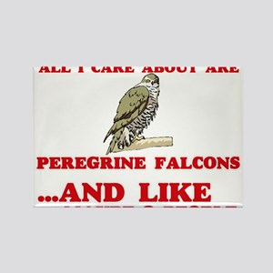 All I care about are Peregrine Falcons Magnets