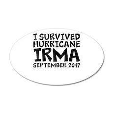 I Survived Hurricane Irma Wall Decal