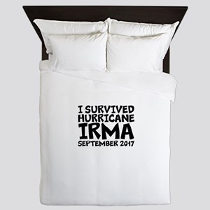I Survived Hurricane Irma Queen Duvet