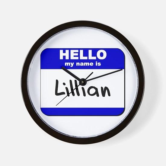 hello my name is lillian  Wall Clock