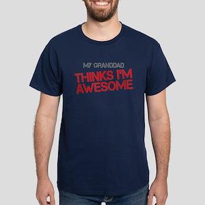 Granddad Awesome Dark T-Shirt