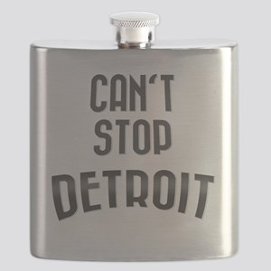 Cant stop detroit  2800 x 2800 copy Flask
