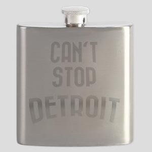 Cant stop detroit  dark 2800 x 2800 copy Flask