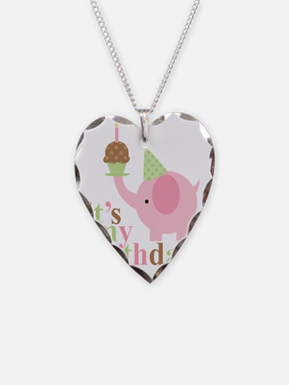 Pink Elephant Birthday Necklace