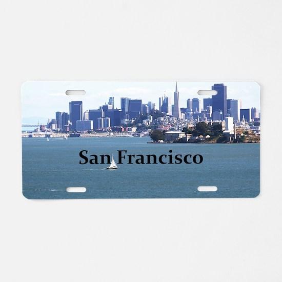 SanFrancisco_12.2x6.64_Alca Aluminum License Plate