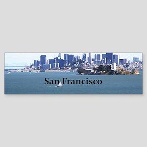 SanFrancisco_12.2x6.64_AlcatrazIs Sticker (Bumper)