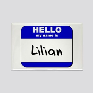 hello my name is lilian Rectangle Magnet