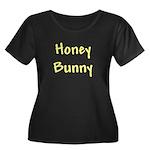 Honey Bunny Women's Plus Size Scoop Neck Dark T-Sh