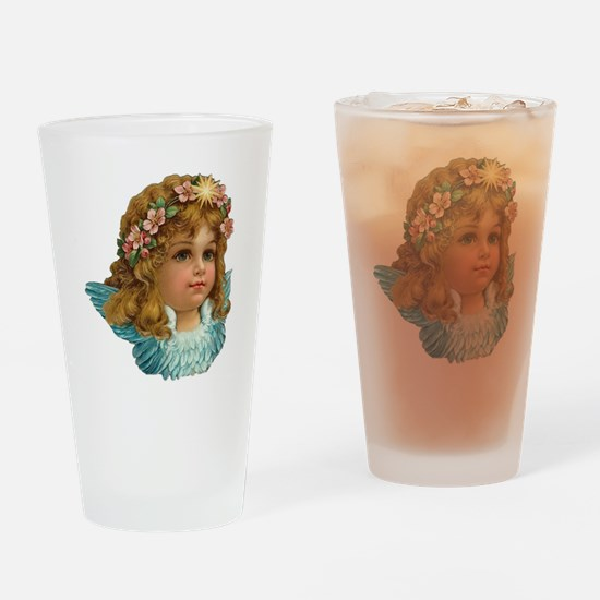 Funny Old world christmas Drinking Glass