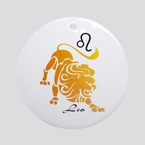 Leo Ornament (Round)