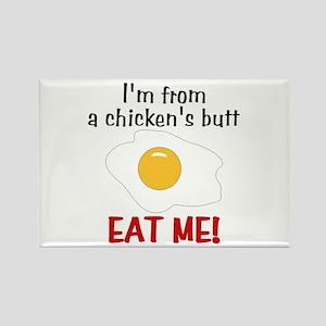 Chicken's Butt Rectangle Magnet