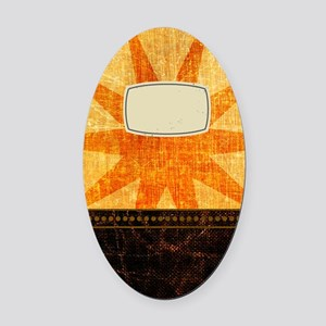 Sunburst Oval Car Magnet