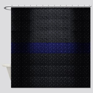 Police Diamond Plate Shower Curtain