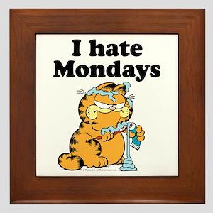 I Hate Mondays Framed Tile