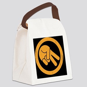 peace-biker-OV Canvas Lunch Bag