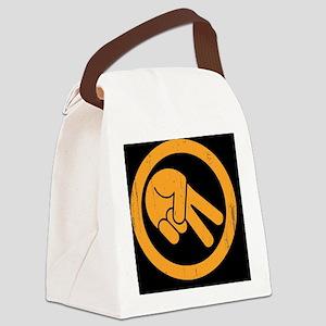 peace-biker-OV Canvas Lunch Bag