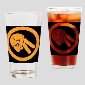 peace-biker-OV Drinking Glass