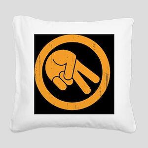 peace-biker-BUT Square Canvas Pillow