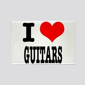 I Heart (Love) Guitars Rectangle Magnet