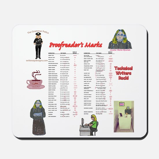 Proofreader's Marks Mousepad