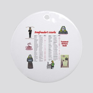 Proofreader's Marks Ornament (Round)