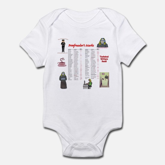 Proofreader's Marks Infant Bodysuit