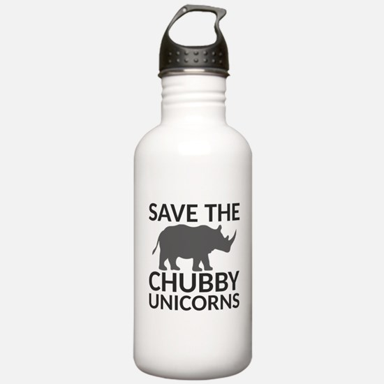 Save the Chubby Unicor Water Bottle