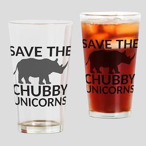 Save the Chubby Unicorns Drinking Glass