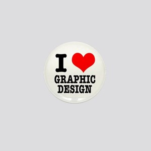 I Heart (Love) Graphic Design Mini Button