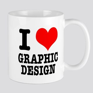 I Heart (Love) Graphic Design Mug