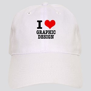 I Heart (Love) Graphic Design Cap