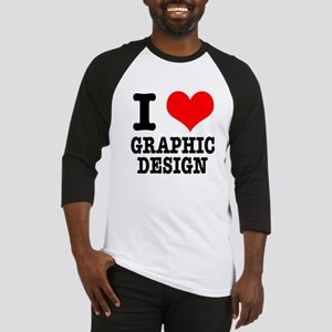 I Heart (Love) Graphic Design Baseball Jersey